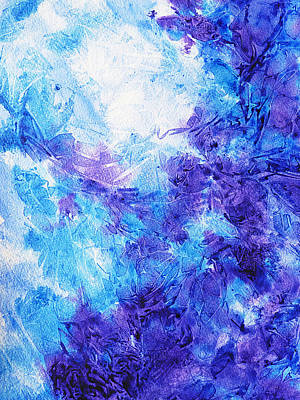 Creative Painting - Frosted Blues Fantasy I by Irina Sztukowski