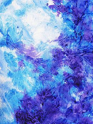 Frosted Blues Fantasy I Print by Irina Sztukowski