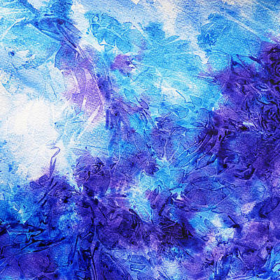 Creative Painting - Frosted Blues Fantasy II by Irina Sztukowski