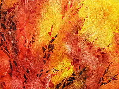 Abstract Movement Painting - Frosted Fire IIi by Irina Sztukowski