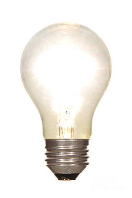 Frosted Light Bulb Print by Olivier Le Queinec