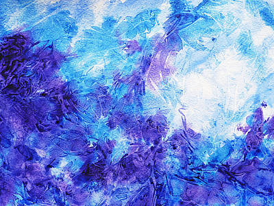 Frosted Window Abstract Iv Print by Irina Sztukowski