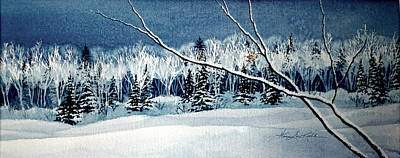 Frosty Forest Valley Original by Hanne Lore Koehler