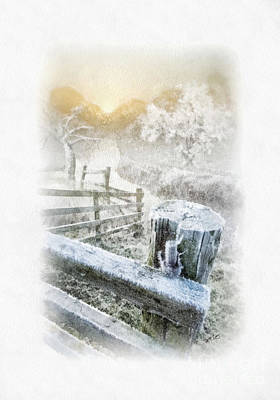 Ice-t Painting - Frosty Morning by Mo T
