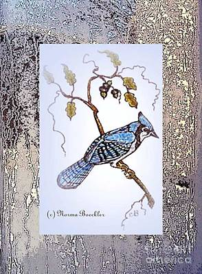 Bluejay Mixed Media - Frosty Morning by Norma Boeckler