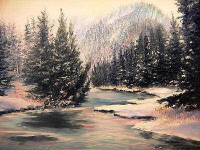 Gallatin River Painting - Frosty Morning by Patti Gordon