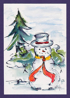Spruce Painting - Frosty The Snowman by Pat Katz
