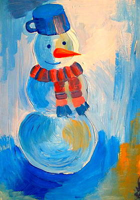 Frosty The Snowman Print by The Creative Minds Art and Photography