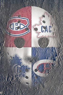 Goalie Photograph - Frozen Canadiens by Joe Hamilton