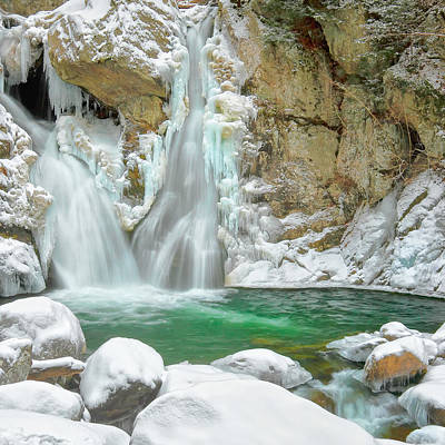 Bash Bish Falls Photograph - Frozen Emerald Square by Bill Wakeley