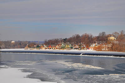 Boathouse Photograph - Frozen Fairmount Dam And Boathouse Row by Bill Cannon