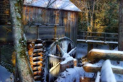 Frozen Mill In The Cove Print by Michael Eingle
