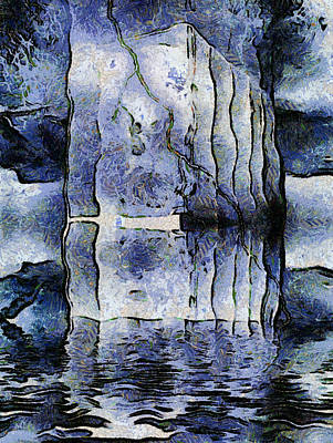 Monolith Digital Art - Frozen Monoliths by Wendy J St Christopher