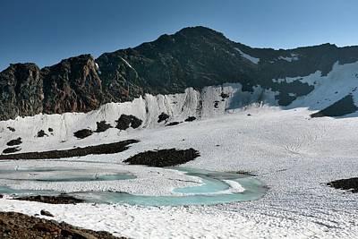 Frozen Mountain Lake Print by Martin Rietze