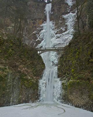 Frozen Multnomah Falls Ssa Print by Todd Kreuter