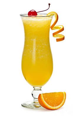 Frozen Orange Drink Print by Elena Elisseeva
