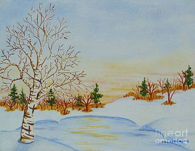 Painting - Frozen Pond by Lori Ziemba