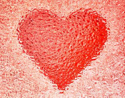 Frozen Red Heart Print by Mikhail Golovastikov