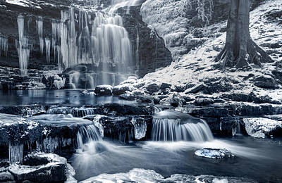 Knaresborough Photograph - Frozen Scaleber Force Falls by Chris Frost