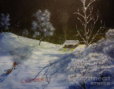 Snowscape Painting - Frozen Serenity by Jack Lepper