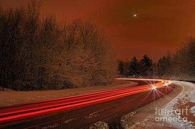 Long Exposure Mixed Media - Frozen Starlight by Vee Robillard