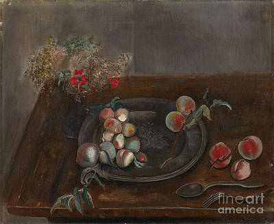 Slavic Painting - Fruit And Flowers On A Table by Celestial Images