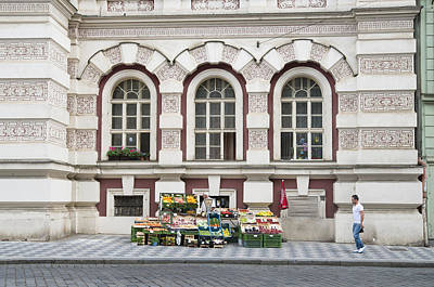 Republic Building Photograph - Fruit And Veg Stall On The Street In Prague by Matthias Hauser