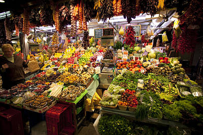 Boqueria Photograph - Fruit And Vegetable Store At Boqueria Market by Ruben Vicente