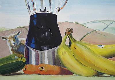 Fruit And Vegetables Painting Original by Mike Jory