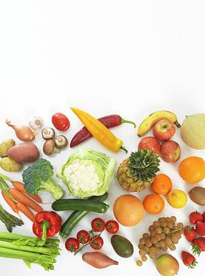 Healthy Eating Photograph - Fruit And Vegetables by Tek Image