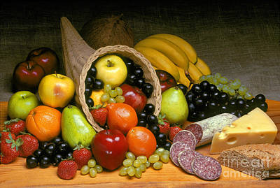 Fruit Cornucopia  Print by Craig Lovell