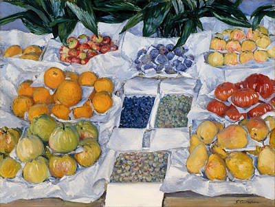 Blueberry Painting - Fruit Displayed On A Stand by Mountain Dreams
