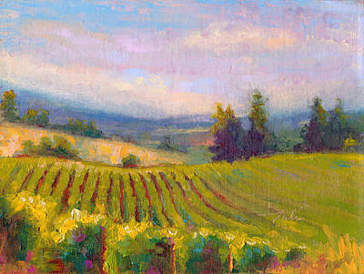 Contemplative Painting - Fruit Of The Vine - Sokol Blosser Winery by Talya Johnson
