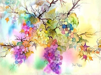 Grape Vine Painting - Fruit On The Vine by Neela Pushparaj