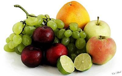 Fruit Salad Print by Cole Black