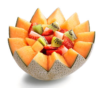Cantaloupe Photograph - Fruit Salad by Johan Swanepoel
