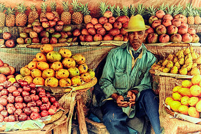 Fruit Seller Print by Heidi Yanulis