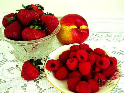 Strawberries Photograph - Fruit Still Life 9 by Margaret Newcomb