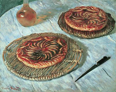 Pie Painting - Fruit Tarts by Claude Monet