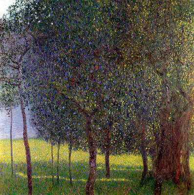 Fruit Tree Art Painting - Fruit Trees by Gustav Klimt