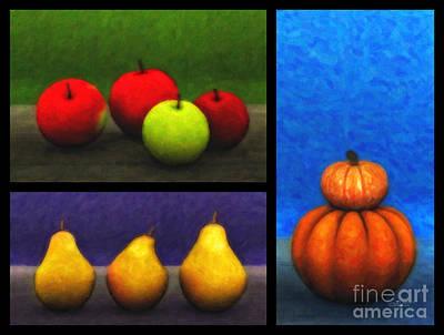 Pear Digital Art - Fruit Trilogy by Jutta Maria Pusl