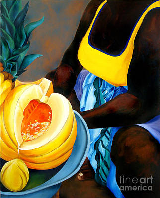 Fruit Vendor Print by Stefanie Caro