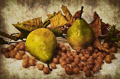 Pear Mixed Media - Autumn Still Life by Angela Doelling AD DESIGN Photo and PhotoArt