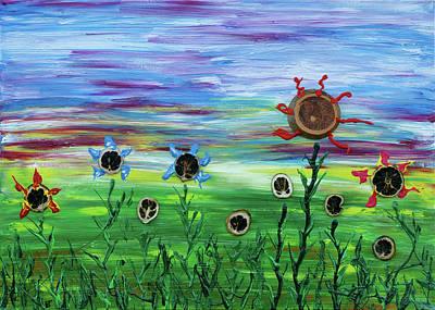 Flowerfield Painting - Fruity Flowerfield by Erik Tanghe