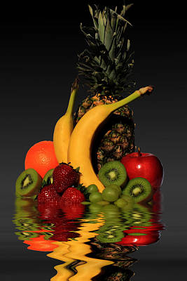 Banana Mixed Media - Fruity Reflections - Dark by Shane Bechler