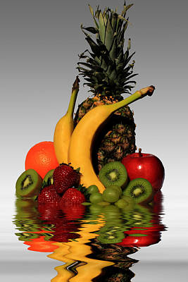 Banana Mixed Media - Fruity Reflections - Light by Shane Bechler