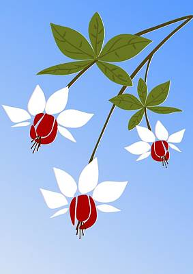 Fuchsia Print by Anastasiya Malakhova