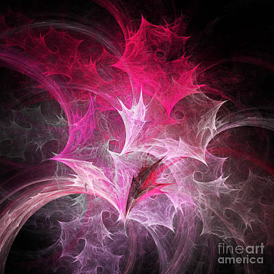Fuchsia Fountain Abstract Print by Andee Design