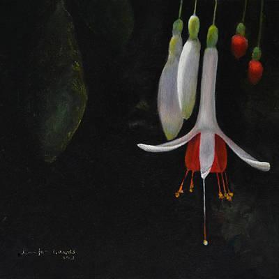 San Diego Painting - Fuchsia by Jennifer Richards