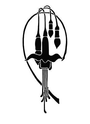 Drawing - Fuchsia Stencil Art by Karon Melillo DeVega